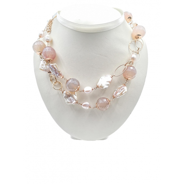 Sparkling Rose' - Woman Necklace - Italy World - Italian Luxury Experience