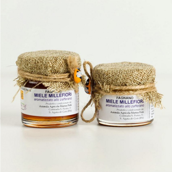 Fagnano Milleflower Honey flavored with Saffron - Italy World - Italian Luxury Experience