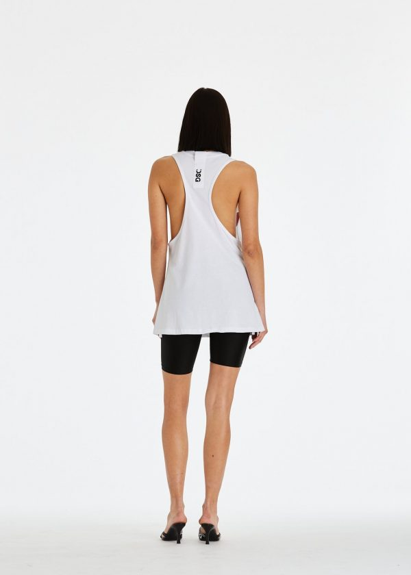 DSG Disgusto - Tank Top 100% Made in Italy - White/Black - Italy World - Italian Luxury Experience