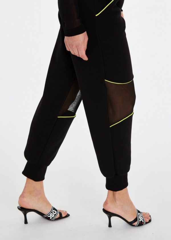DSG Disgusto - Gym Pants 100% Made in Italy - Acid Green - Italy World - Italian Luxury Experience