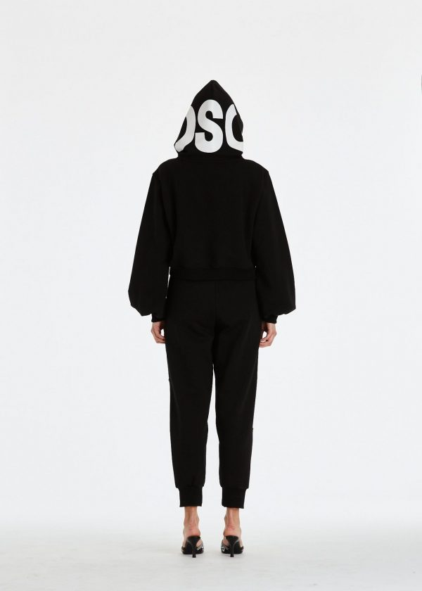 DSG Disgusto - Kylie Hoodie 100% Made in Italy - Black/WhiteRed - Italy World - Italian Luxury Experience