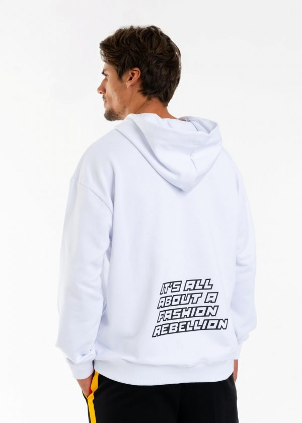 DSG Disgusto - Rebel Hoodie 100% Made in Italy - White - Italy World - Italian Luxury Experience
