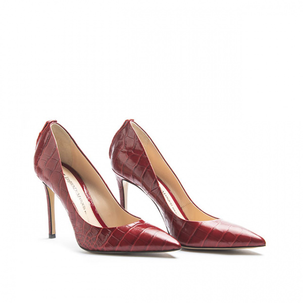 LJDM - Stiletto Woman Kill.100 - 100% Made in Italy - Embrossed Croco Leather - Italy World - Italian Luxury Experience
