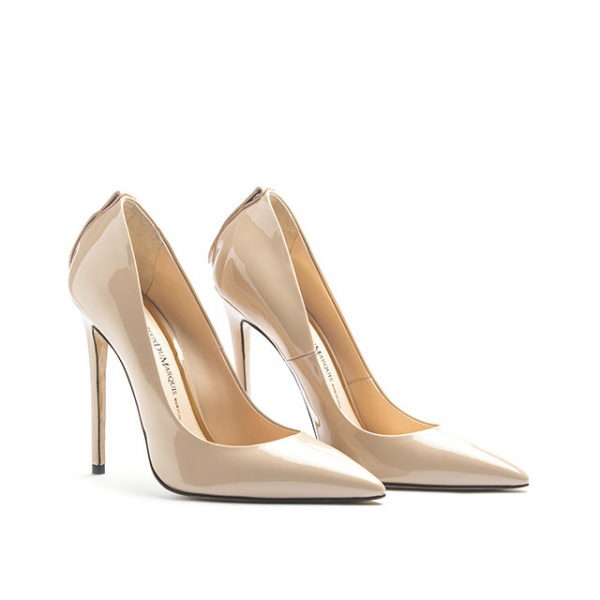 LJDM - Stiletto Woman Super kill 120 - 100% Made in Italy - Patent leather Nude - Italy World - Italian Luxury Experience