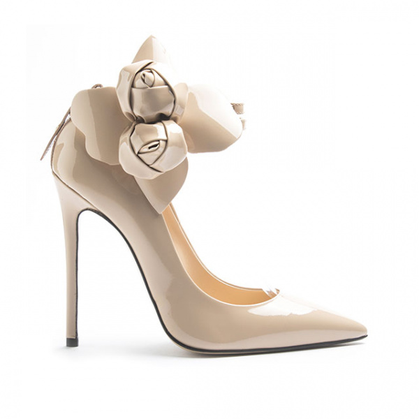 LJDM - Stiletto Woman Super kill 120 with Carnal Rose - 100% Made in Italy - Patent leather - Italy World - Italian Luxury Experience