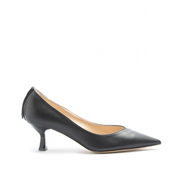 LJDM - Kitten Hell Woman Pumps Swallow.55 - 100% Made in Italy - Calf Black - Italy World - Italian Luxury Experience