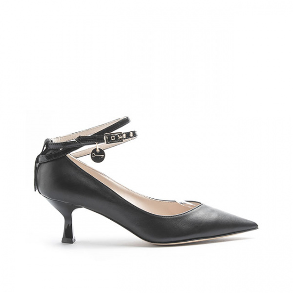 LJDM - Kitten Hell Woman Pumps Swallow.55 with Miss Marquis - 100% Made in Italy - Calf Black - Italy World - Italian Luxury Experience